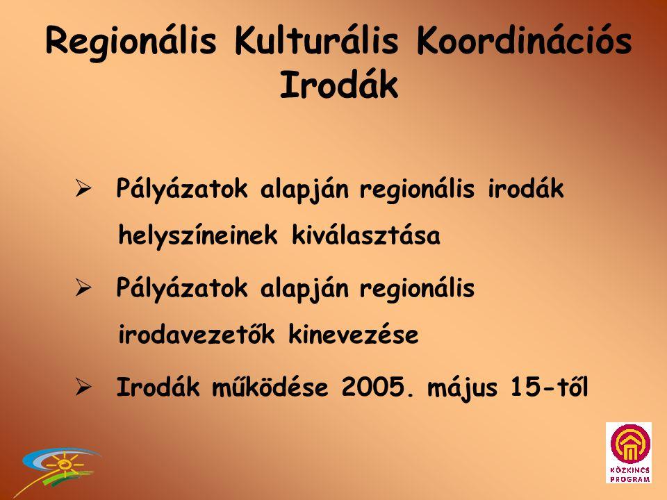 1. Intézményrendszer •NKÖM Közművelődési Főosztály •MMI átszervezése •Regionális Programok Főosztálya •Regionális Kulturális Koordinációs Irodák •Közk