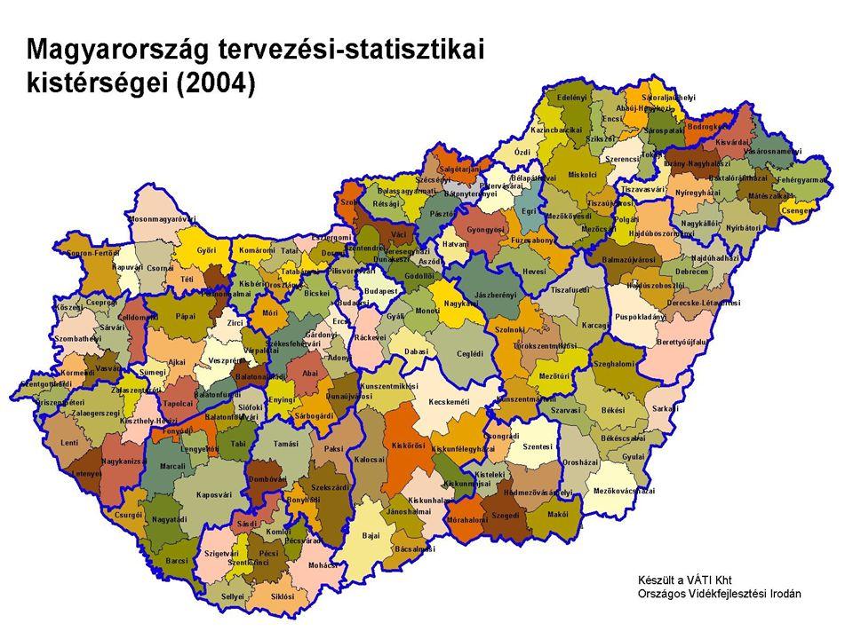 NUTS-Területi statisztikai beosztás •NUTS I: ország •NUTS II: régió •NUTS III: megye •NUTS IV: kistérség •NUTS V: település