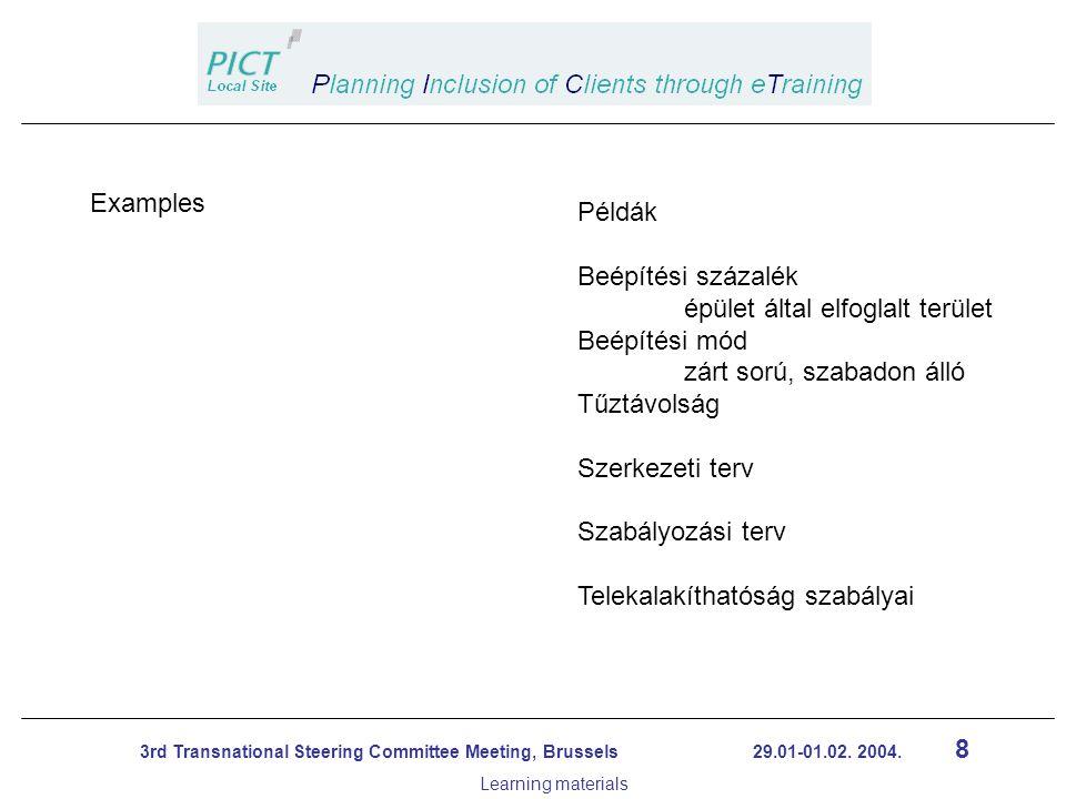 19 3rd Transnational Steering Committee Meeting, Brussels 29.01-01.02.