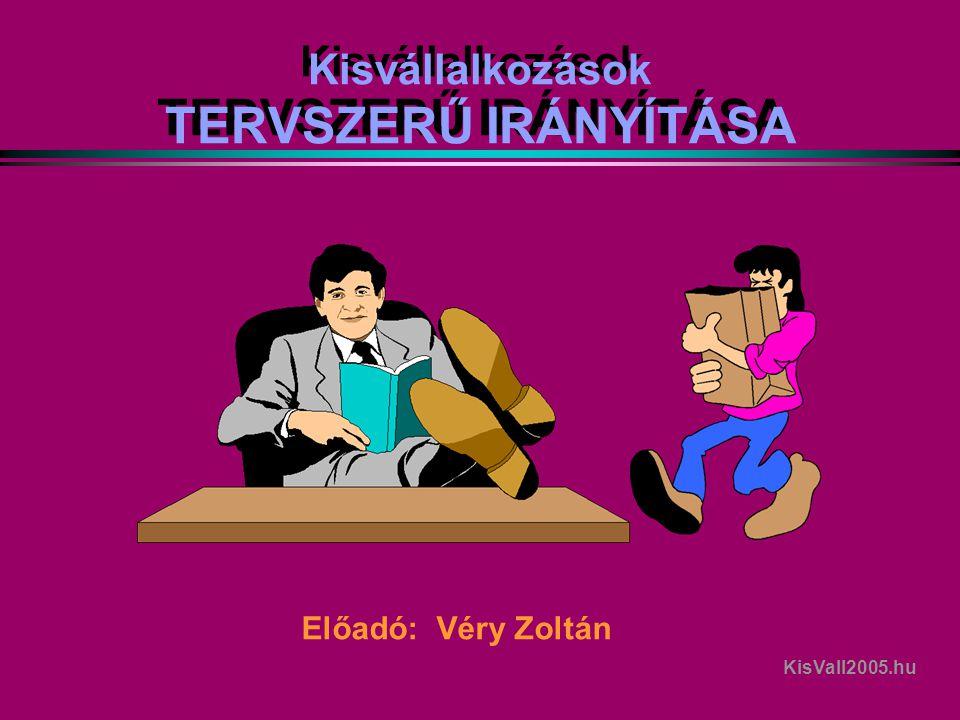 Kisvállalkozások TERVSZERŰ IRÁNYÍTÁSA Előadó: Véry Zoltán KisVall2005.hu