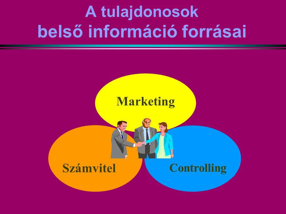 A tulajdonosok belső információ forrásai Marketing Controlling Számvitel