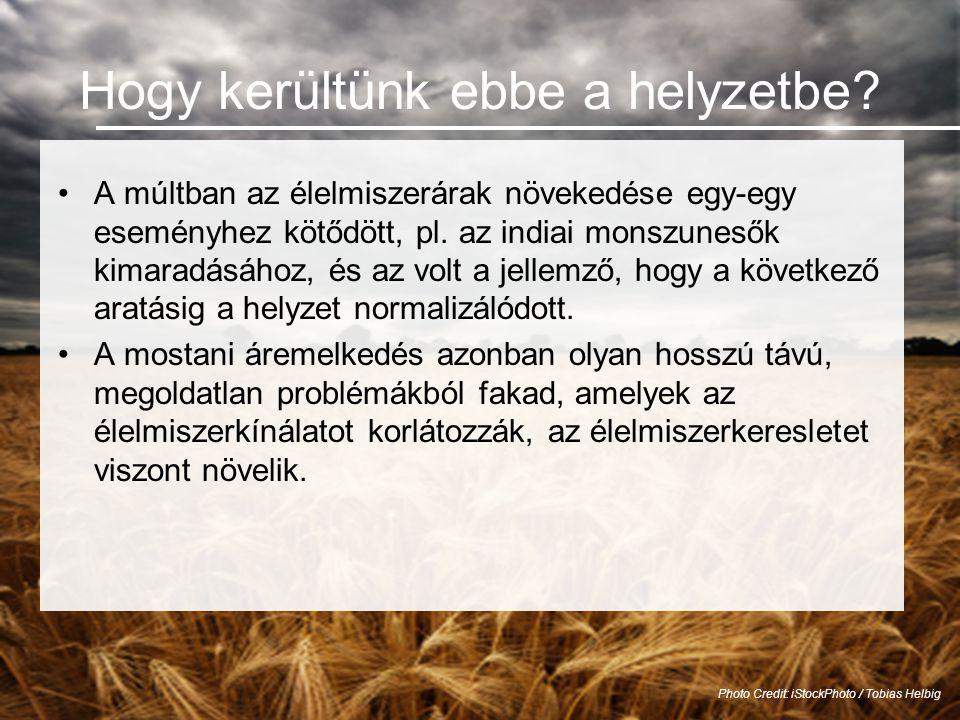 A kínálatot korlátozó tényezők •Kevés a megművelhető szűzföld, és sok mezőgazdasági termelésre alkalmas föld vész el a fejlődés és az ipar miatt.
