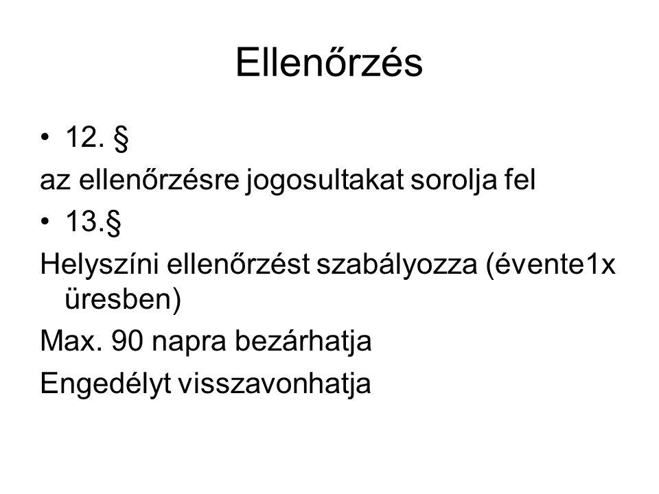 Ellenőrzés •12.