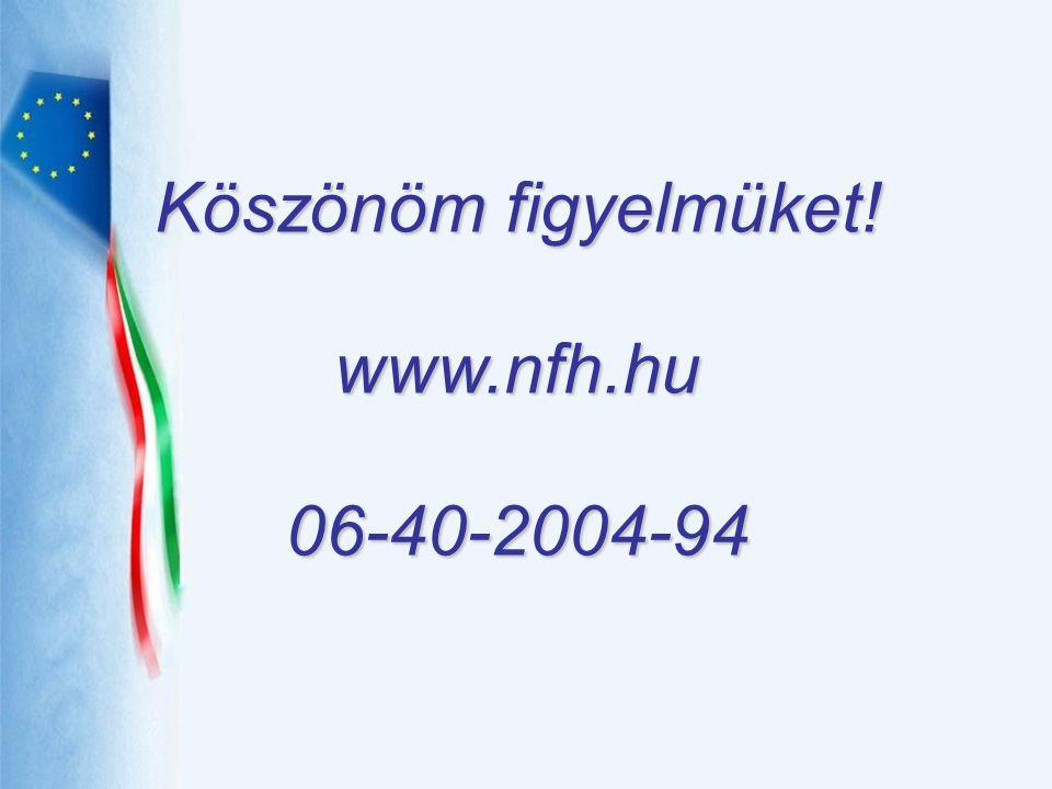 Köszönöm figyelmüket! www.nfh.hu 06-40-2004-94