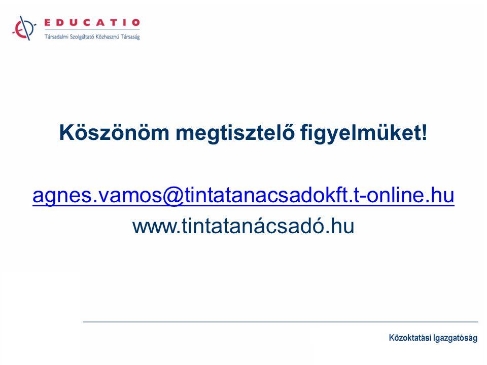 Köszönöm megtisztelő figyelmüket! agnes.vamos@tintatanacsadokft.t-online.hu www.tintatanácsadó.hu
