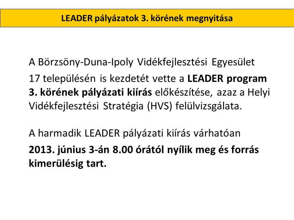 LEADER pályázatok 3.