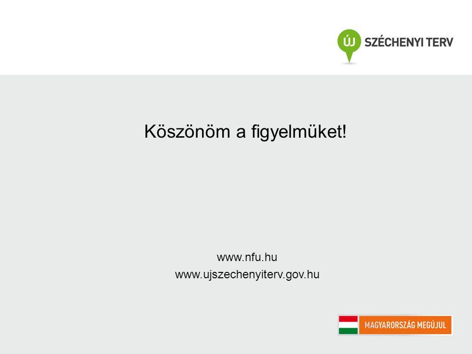 Köszönöm a figyelmüket! www.nfu.hu www.ujszechenyiterv.gov.hu