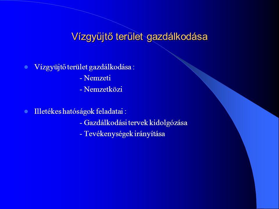 A Víz Keretirányelv fontos határidői  - 2003.