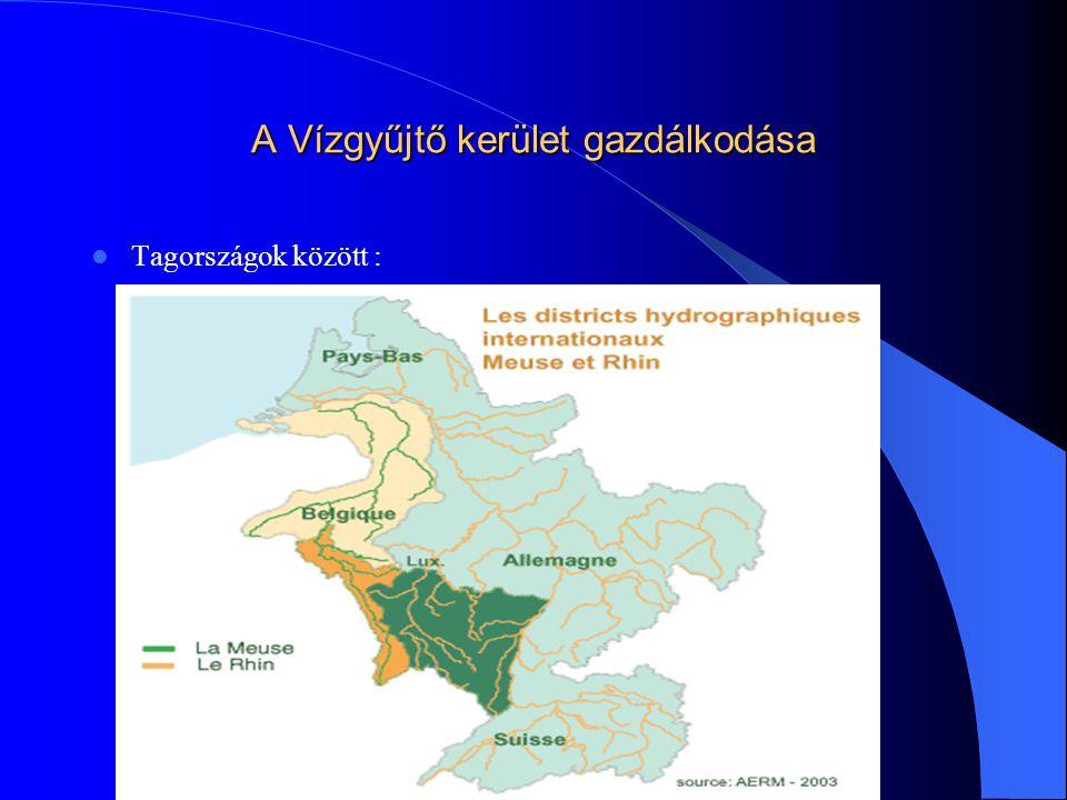 A Vízgyűjtő kerület gazdálkodása  Tagországok között :