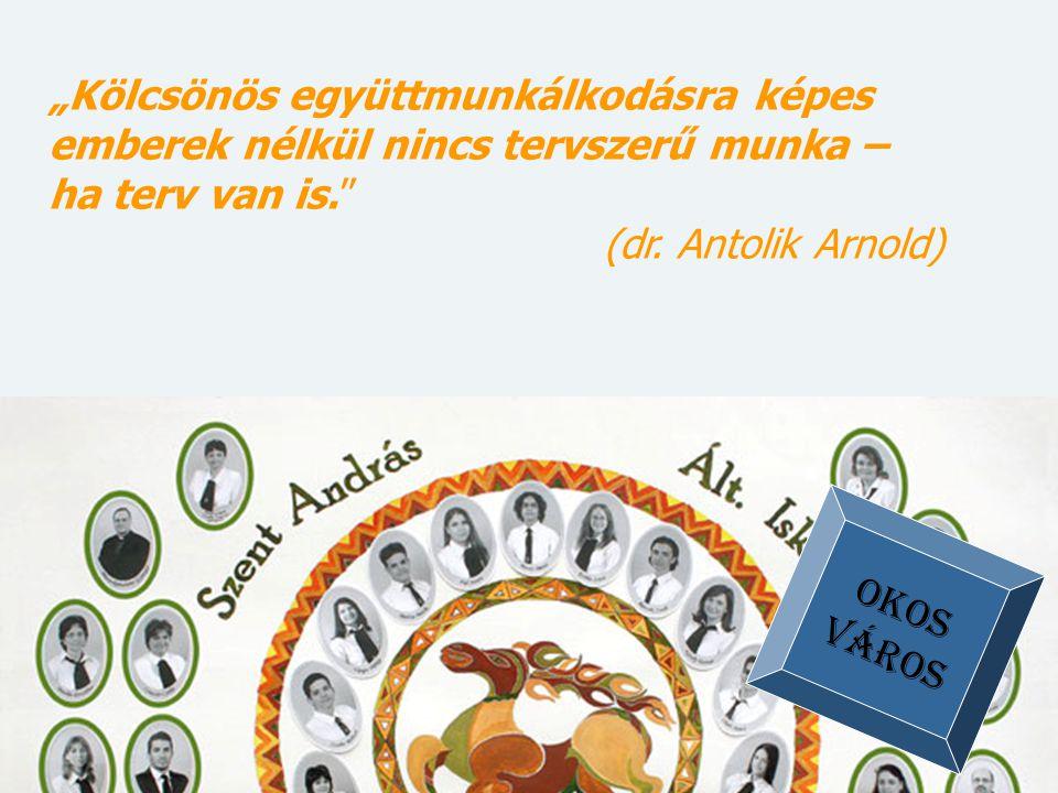 """""""Kölcsönös együttmunkálkodásra képes emberek nélkül nincs tervszerű munka – ha terv van is."""" (dr. Antolik Arnold) OKOS VÁROS"""