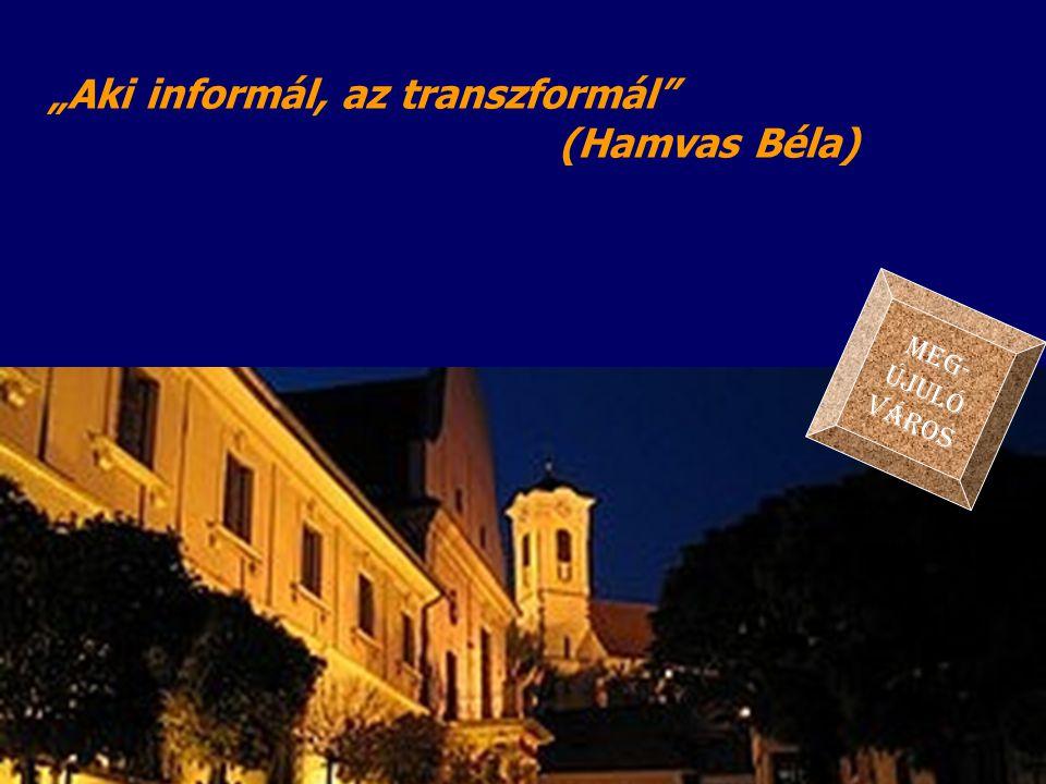 """""""Aki informál, az transzformál"""" (Hamvas Béla) MEG- ÚJULÓ VÁROS"""