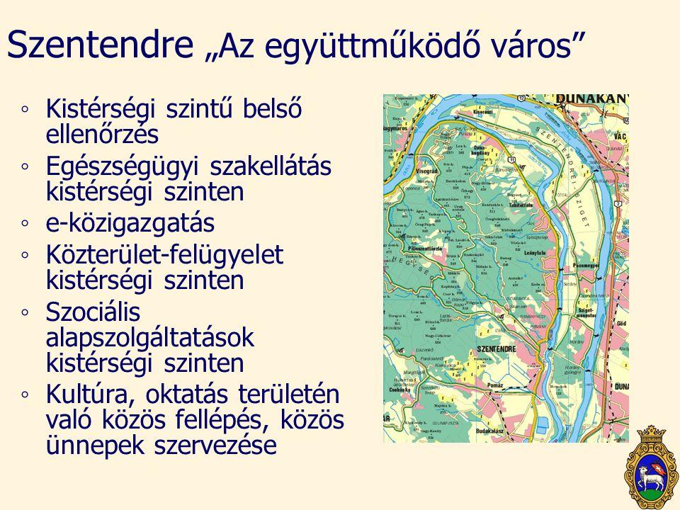 """Szentendre """"Az együttműködő város"""" ◦Kistérségi szintű belső ellenőrzés ◦Egészségügyi szakellátás kistérségi szinten ◦e-közigazgatás ◦Közterület-felügy"""
