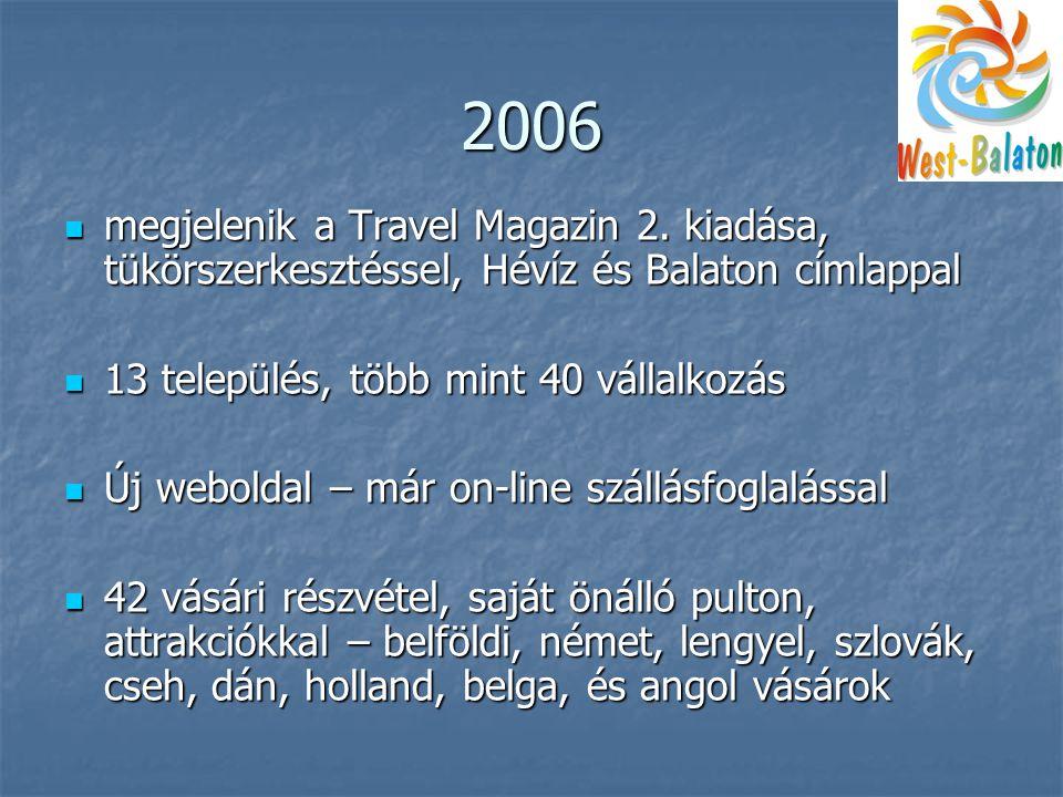 2006  megjelenik a Travel Magazin 2.