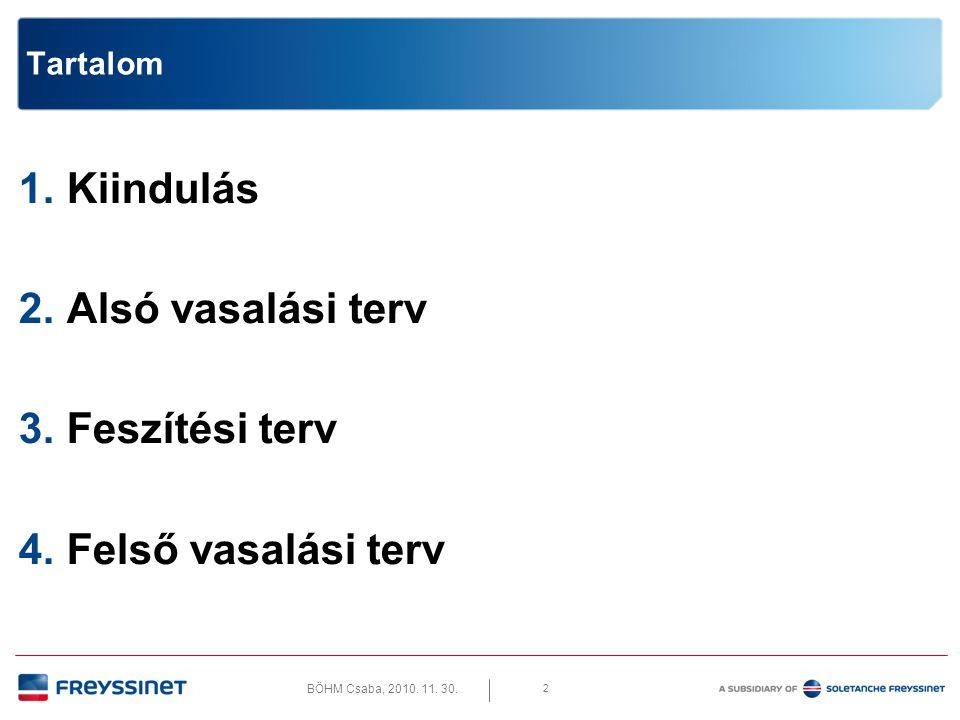BÖHM Csaba, 2010. 11. 30. 13 2. Alsó vasalási terv • Alapháló és erősítés – Létra!