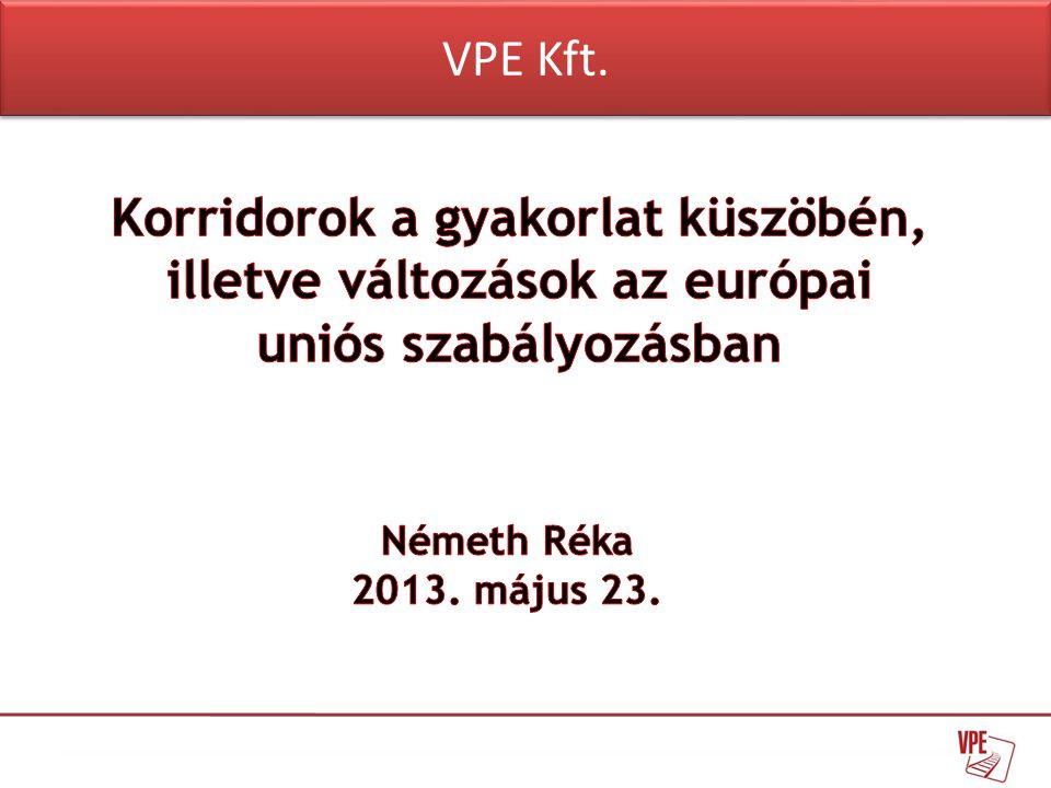 • Az Európai Parlament és a Tanács 913/2010/EU rendelete • Az Európai Parlament és a Tanács 2012/34/EU irányelve (Recast) • Negyedik Vasúti Csomag