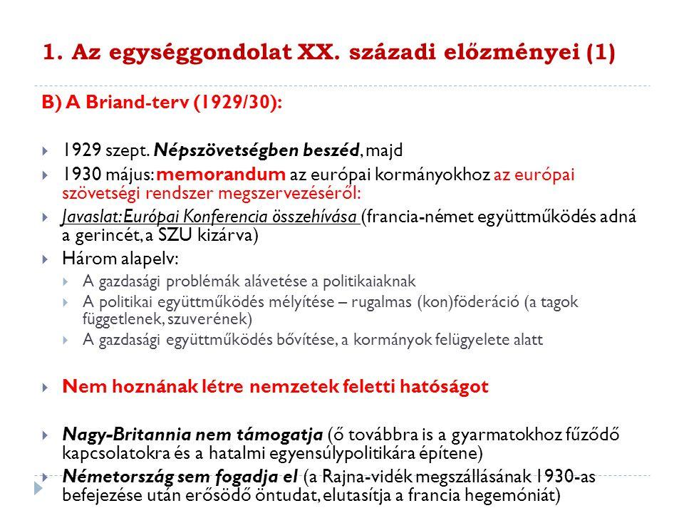 1.Az egységgondolat XX.