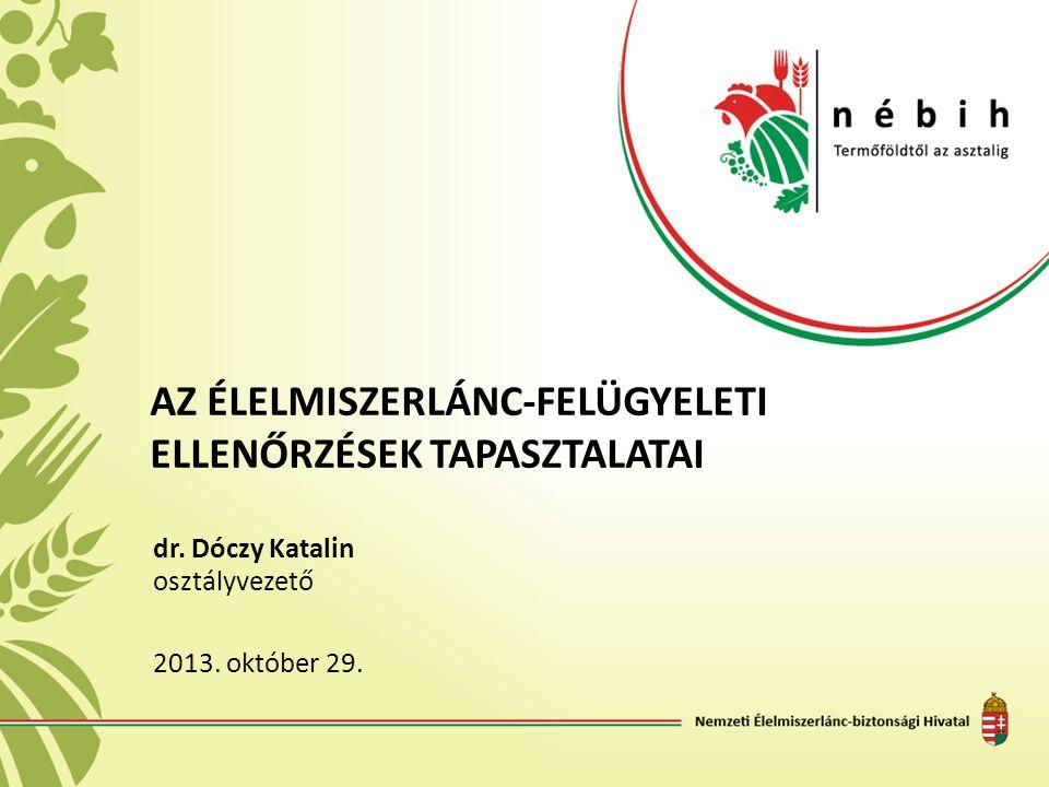 Hatósági ellenőrzések tapasztalatai Élelmiszer-vállalkozók felkészültebbek jogkövető magatartás hozzáállása a hatósági ellenőrzésekhez