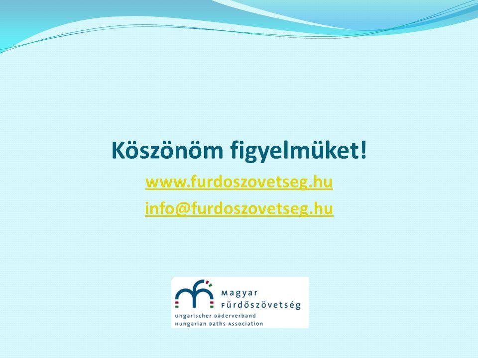 Köszönöm figyelmüket! www.furdoszovetseg.hu info@furdoszovetseg.hu