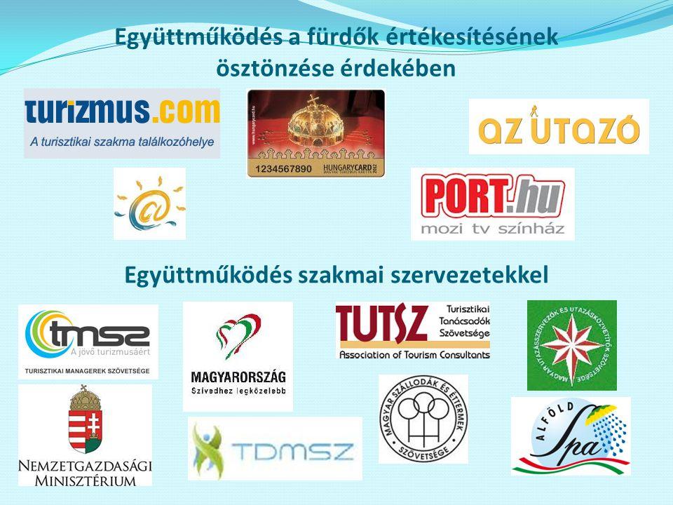 Együttműködés a fürdők értékesítésének ösztönzése érdekében Együttműködés szakmai szervezetekkel