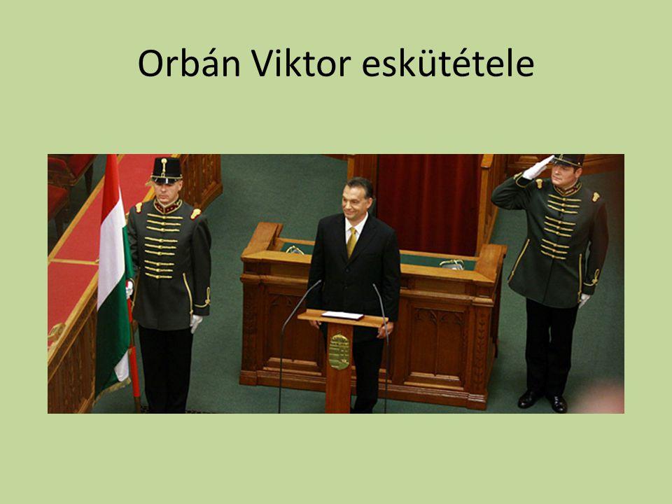 Orbán Viktor eskütétele