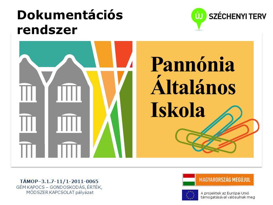 TÁMOP–3.1.7-11/1-2011-0065 GÉM KAPOCS – GONDOSKODÁS, ÉRTÉK, MÓDSZER KAPCSOLAT pályázat A projektek az Európai Unió támogatásával valósulnak meg INTÉZMÉNYI PORTFOLIÓ 1.Helyzetelemzés