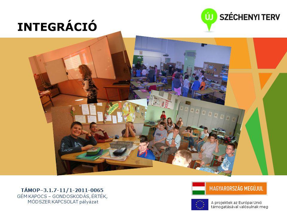 TÁMOP–3.1.7-11/1-2011-0065 GÉM KAPOCS – GONDOSKODÁS, ÉRTÉK, MÓDSZER KAPCSOLAT pályázat A projektek az Európai Unió támogatásával valósulnak meg Elégedettségi kérdőív a partnerektől nem igen Kivitelezés: - mentorálás - integráció, öko iskolai Jó gyakorlatok átadása.