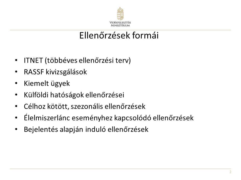 2 Ellenőrzések formái • ITNET (többéves ellenőrzési terv) • RASSF kivizsgálások • Kiemelt ügyek • Külföldi hatóságok ellenőrzései • Célhoz kötött, sze