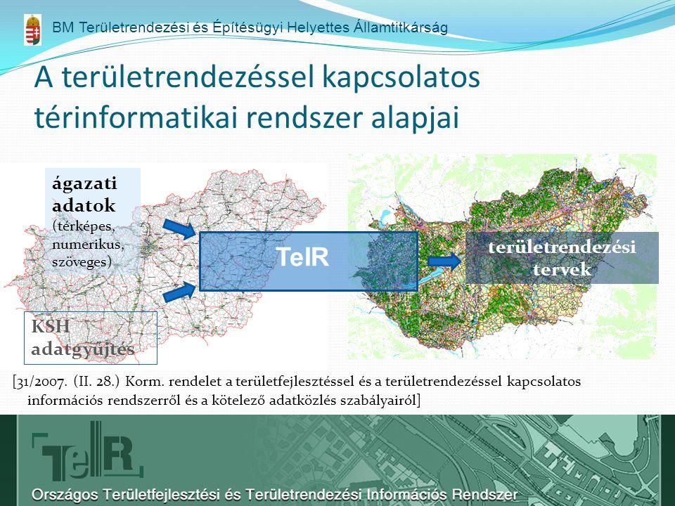 A területrendezéssel kapcsolatos térinformatikai rendszer alapjai [31/2007.