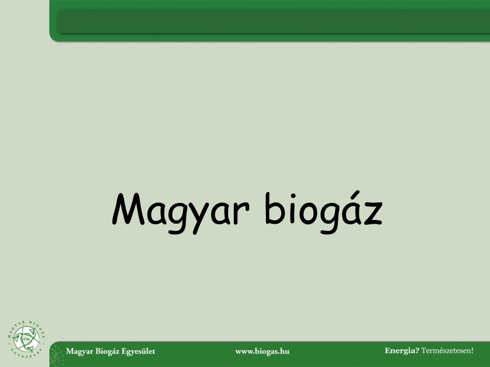 Magyar biogáz