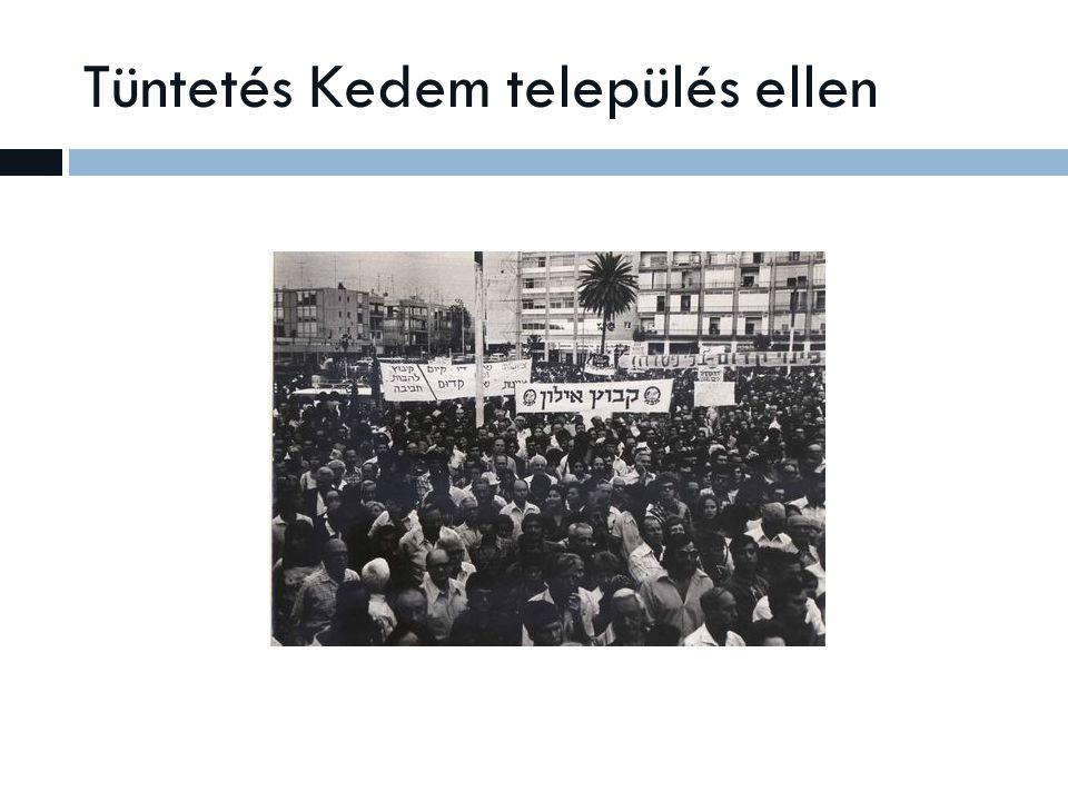 Tüntetés Kedem település ellen