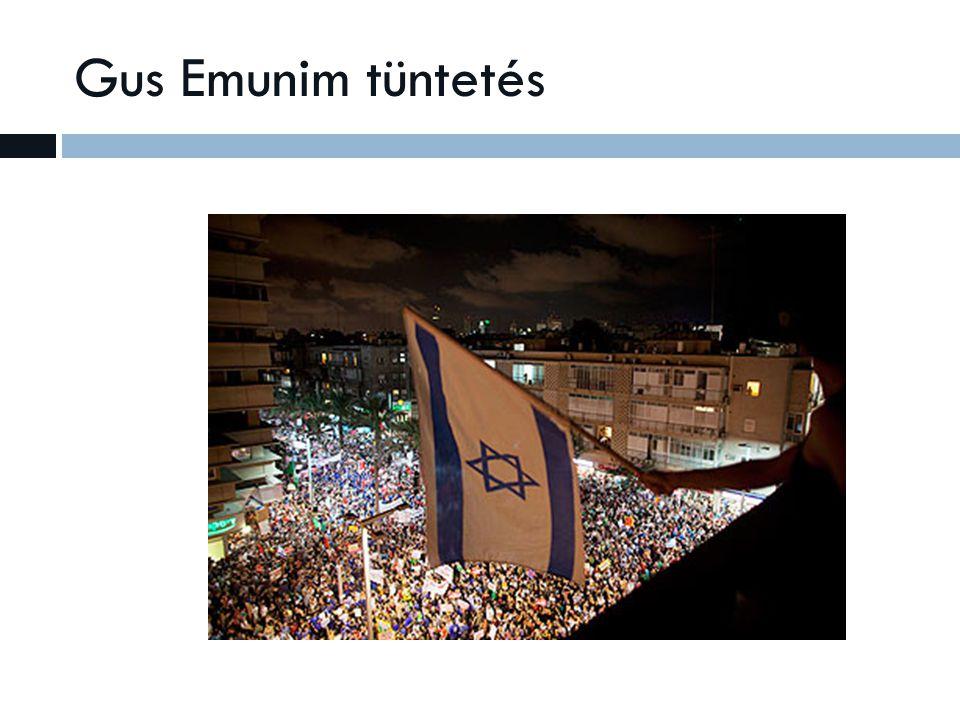 Gus Emunim tüntetés