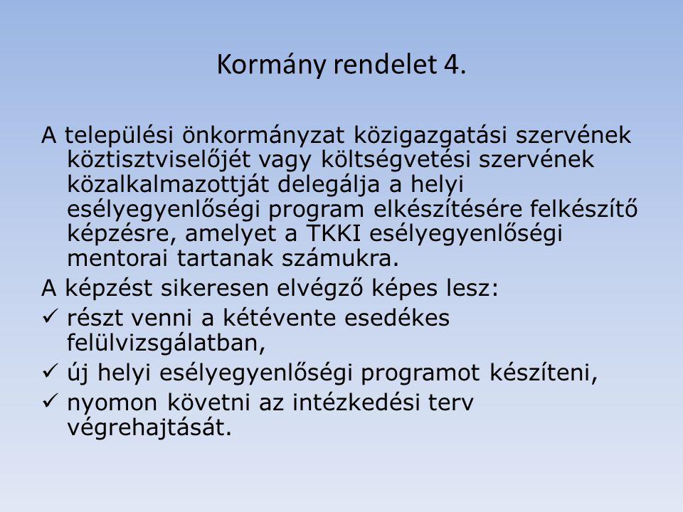 Kormány rendelet 4.