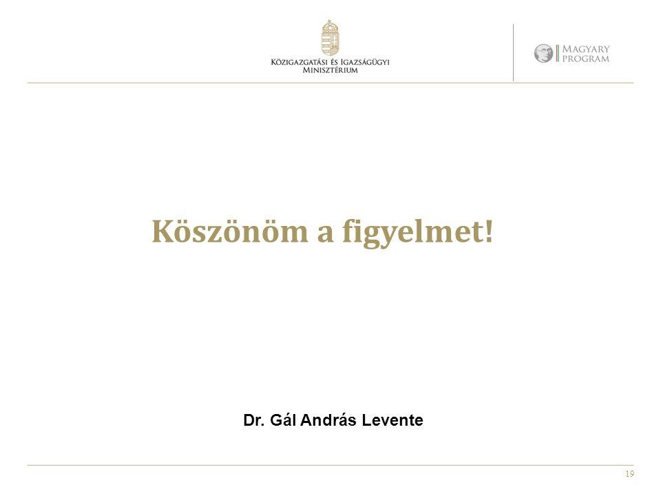 19 Köszönöm a figyelmet! Dr. Gál András Levente