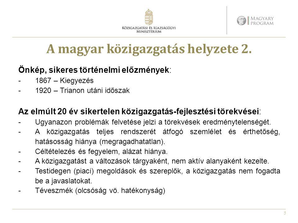 5 A magyar közigazgatás helyzete 2.