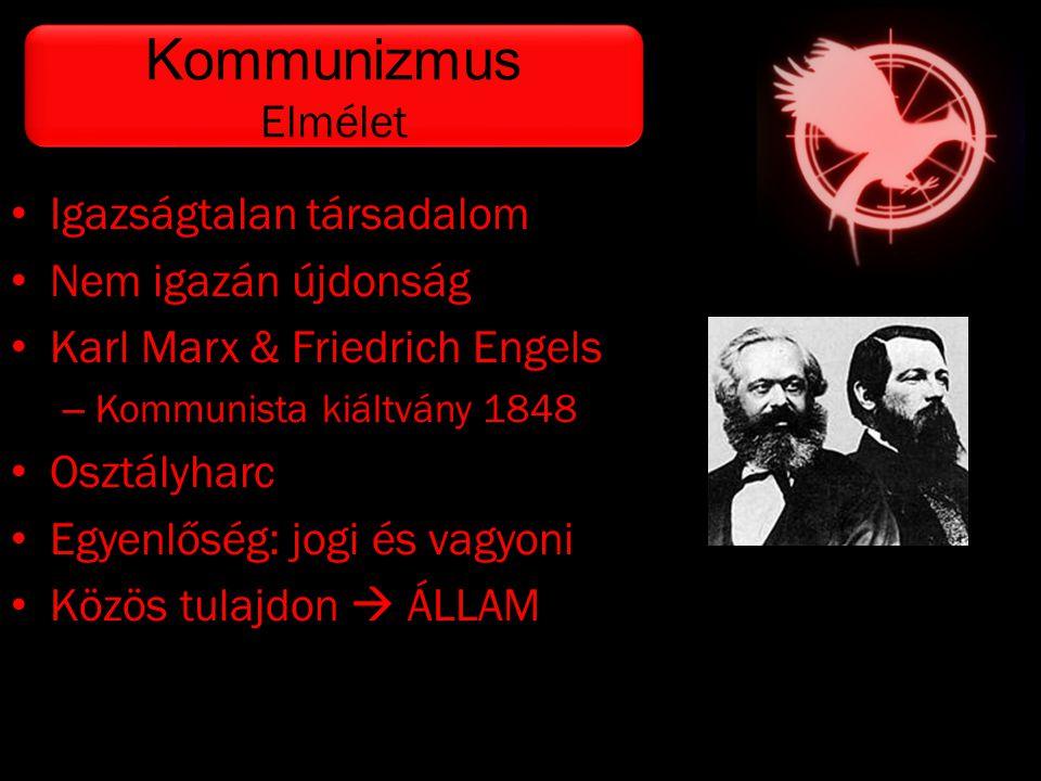 • Igazságtalan társadalom • Nem igazán újdonság • Karl Marx & Friedrich Engels – Kommunista kiáltvány 1848 • Osztályharc • Egyenlőség: jogi és vagyoni