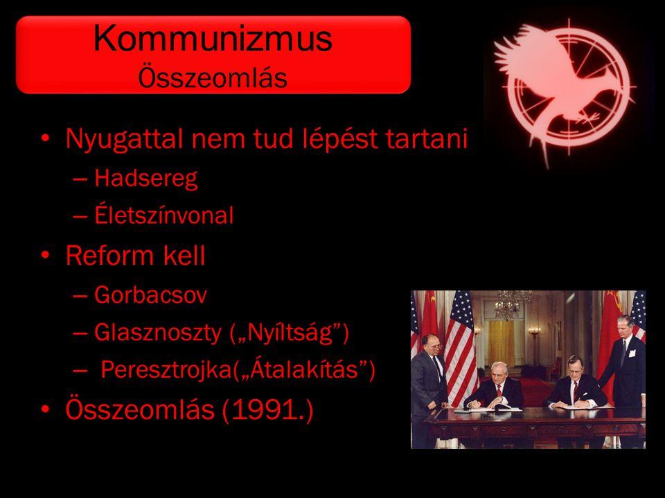 """• Nyugattal nem tud lépést tartani – Hadsereg – Életszínvonal • Reform kell – Gorbacsov – Glasznoszty (""""Nyíltság"""") – Peresztrojka(""""Átalakítás"""") • Össz"""