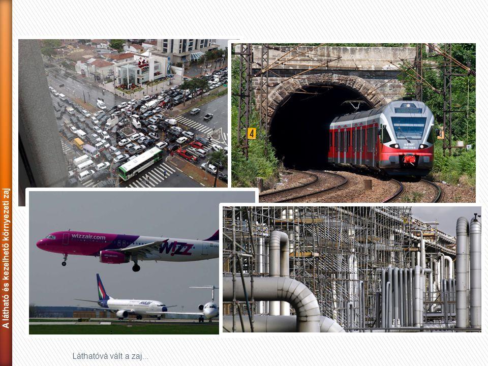 """23 Láthatóvá vált a zaj... ► Zajtérképek: """"túllépések"""" összegzése közút vasút üzem A látható és kezelhető környezeti zaj"""
