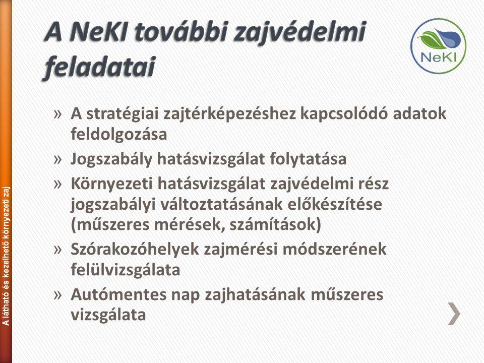 » A stratégiai zajtérképezéshez kapcsolódó adatok feldolgozása » Jogszabály hatásvizsgálat folytatása » Környezeti hatásvizsgálat zajvédelmi rész jogs