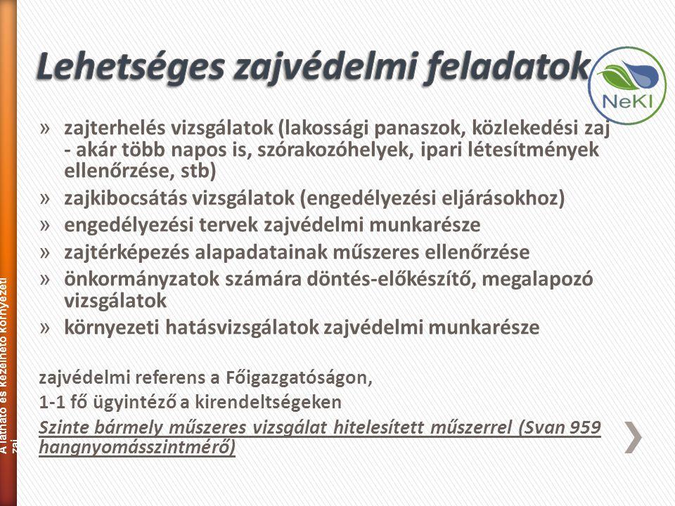 » zajterhelés vizsgálatok (lakossági panaszok, közlekedési zaj - akár több napos is, szórakozóhelyek, ipari létesítmények ellenőrzése, stb) » zajkiboc