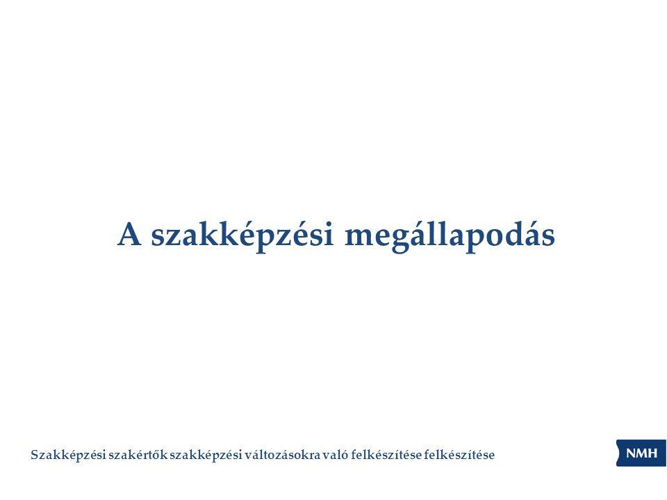 A szabályozási háttér • a szakképzésről szóló 2011.