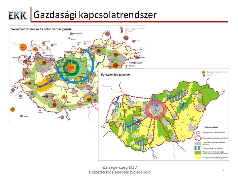 Gazdasági kapcsolatrendszer 3 Zalaegerszeg MJV Előzetes Közlekedési Koncepció