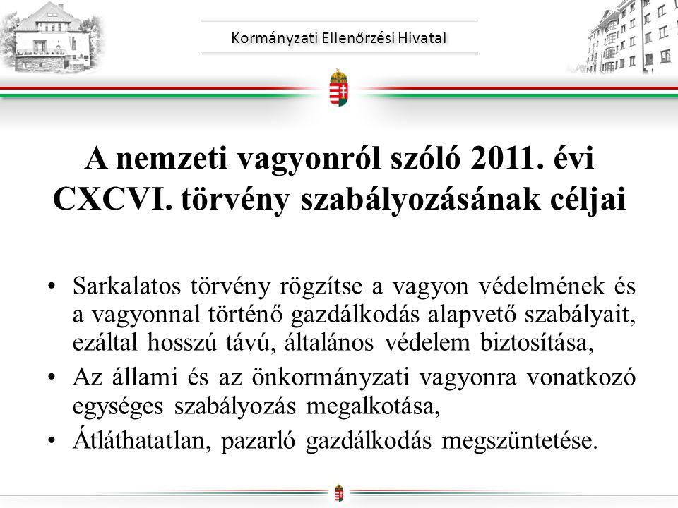Kormányzati Ellenőrzési Hivatal A nemzeti vagyonról szóló 2011.
