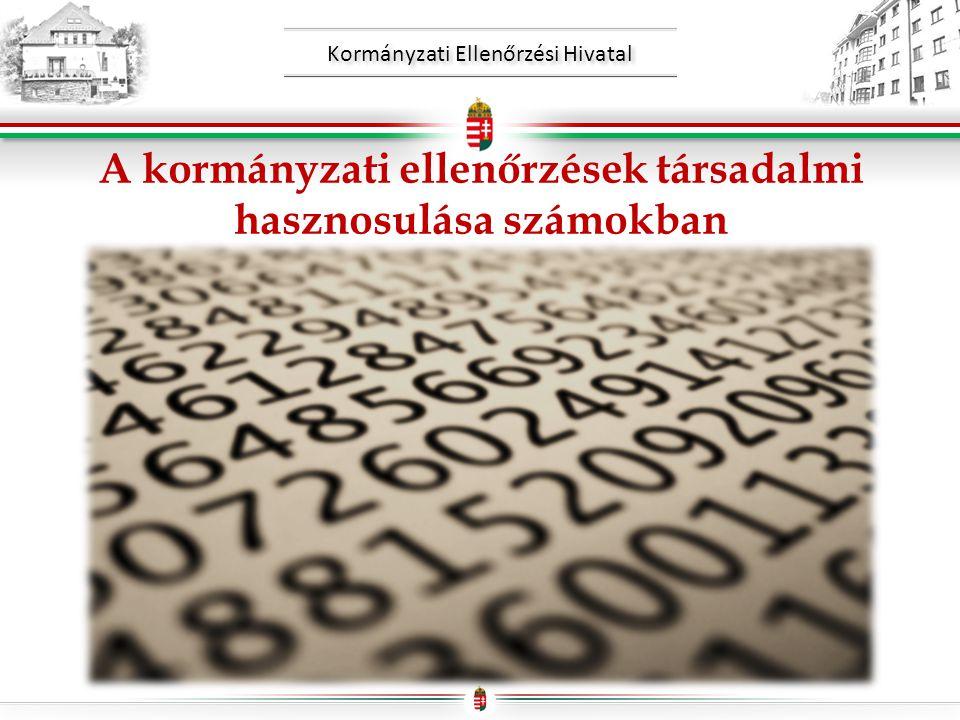 Kormányzati Ellenőrzési Hivatal A kormányzati ellenőrzések társadalmi hasznosulása számokban