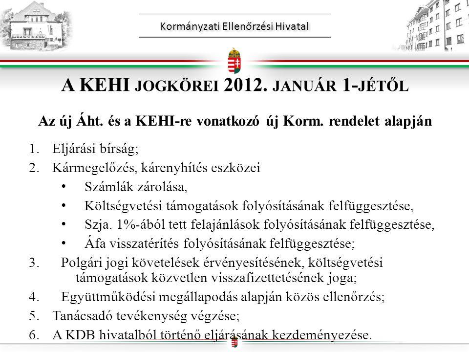 Kormányzati Ellenőrzési Hivatal A KEHI JOGKÖREI 2012.