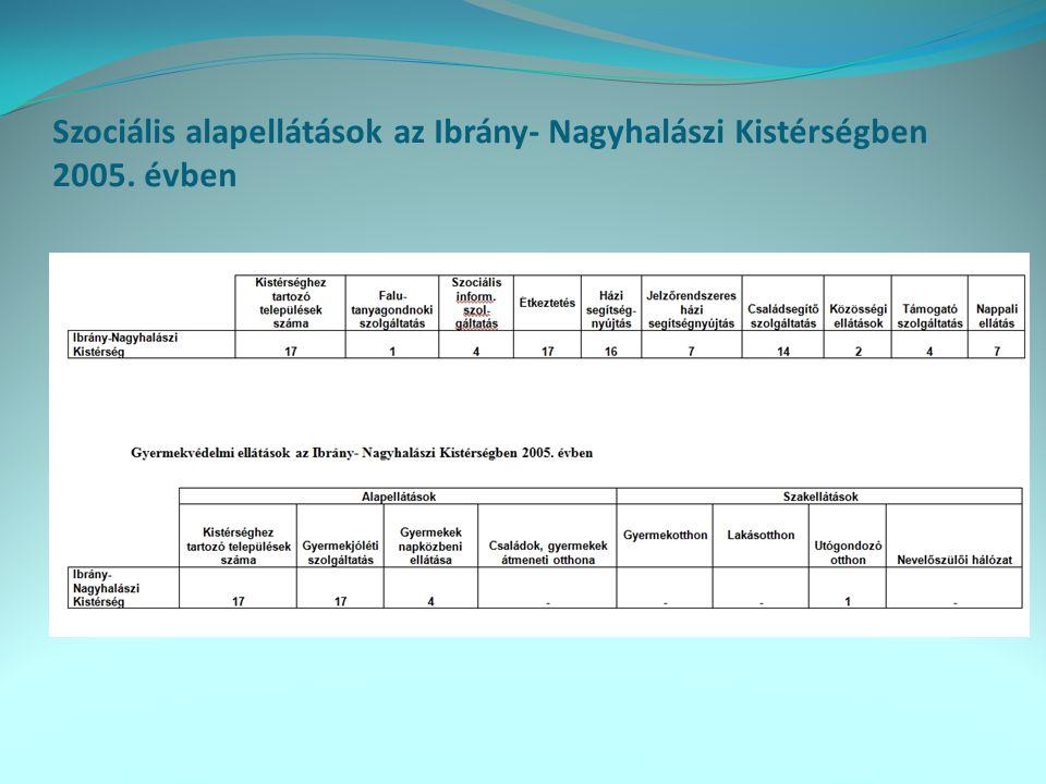 A szociális ellátások problématérképe a települési önkormányzatok megítélése szerint, 2005