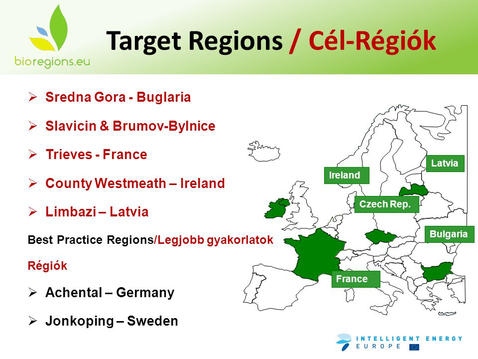 Target Regions / Cél-Régiók France Bulgaria Czech Rep.