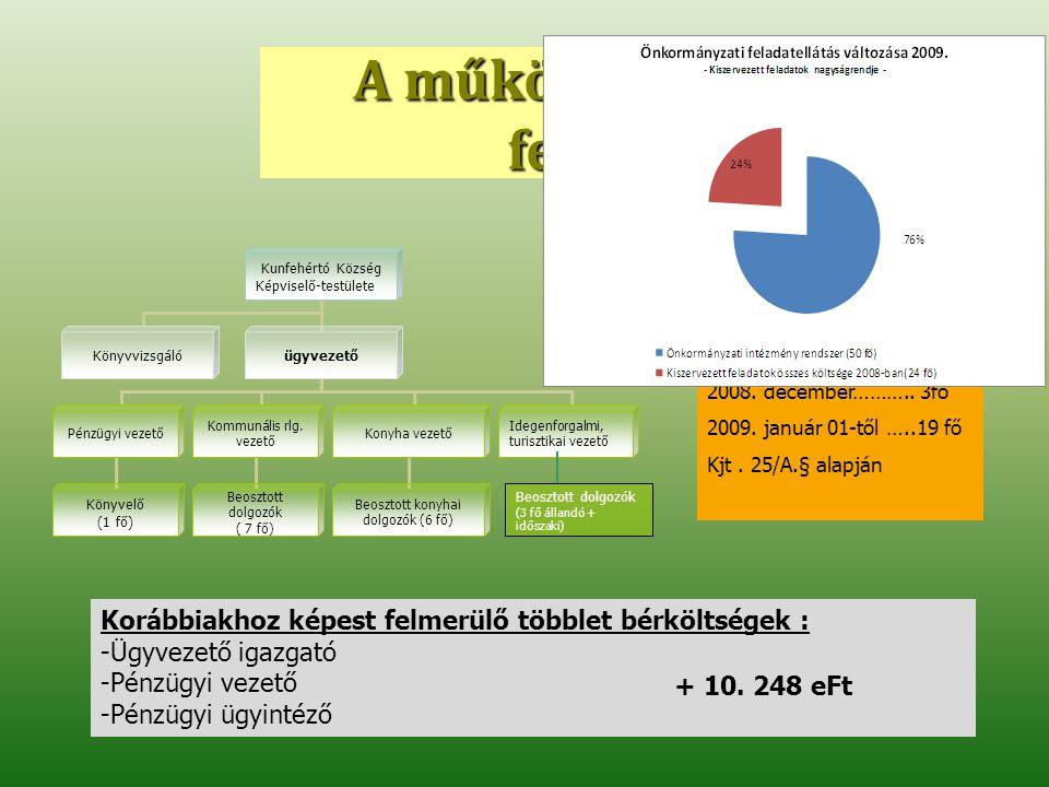 VÁLLALKOZÓI ÉS LAKOSSÁGI SZOLGÁLTATÁS 2010 Megjegyzés/ Általános költségek Vállalkozói 2010.04-12 (9 hó) lakossági 2010.07-12 (6 hó)összesen Szennyvíz szippantás 2010 6000 m33000 m39000 m3 Jelenlegi szolg.díj TERRA-LINE KFT Ft/m3 nettó 1800 Ftnettó : 1408 Ft bruttó: 2250 Ftbruttó : 1760 Ft Árképzés 2010 Fehértó- Gazda Kft Ft/m3 nettó 1700 Ftnettó : 1200 Ft bruttó : 2125 FtBruttó: 1500 Ft Számított nettó árbevétel 10.200.000,- Ft3.600.000,- Ft13.800.000,- Ft fordulók száma (60km) 500 forduló250 forduló750 forduló 1 hónapra jutó fordulók száma 55 forduló/hó41 forduló/hó96 forduló/hó heti 5 napos szolgáltatás forduló/nap 2,752,054,8 heti 6 napos szolgáltatás (forduló/nap) 2,3 1,71 4,01 hét minden napja 1,84 forduló/nap1,37 forduló/nap3,21 forduló/nap Szennyvíztelep nyitva tartás 7-20 óra Hétvégén : állandó ügyelet 1 fő felvétele 2010.július 1-től (lakossági nettó 475 Ft/m3)