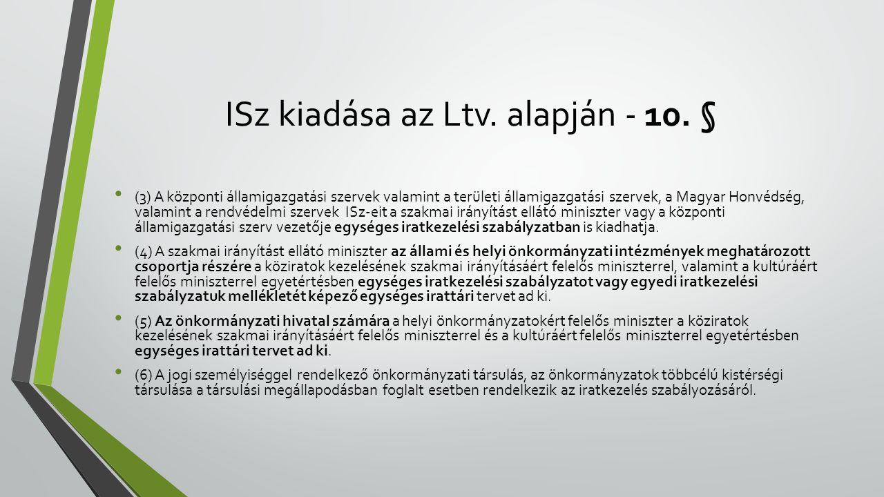 ISz kiadása az Ltv.alapján - 10.