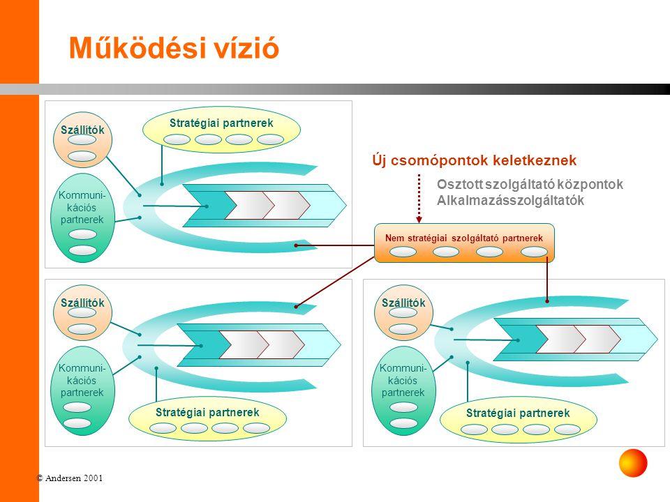 © Andersen 2001 Osztott szolgáltató központok (BPO), ASP Tőzsdék Elszámolóházak Call centerek Száll.