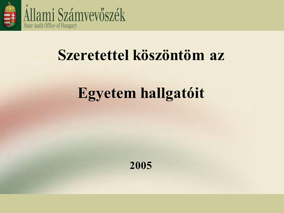 Budapest, 2005.február 3. 1 Szeretettel köszöntöm az Egyetem hallgatóit 2005